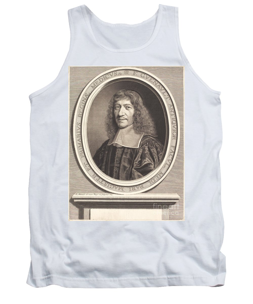 Tank Top featuring the drawing Francois Guenault by Robert Nanteuil