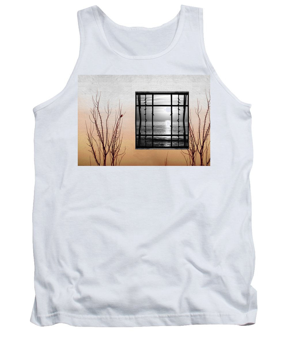 Digital Tank Top featuring the photograph Freeze by Munir Alawi