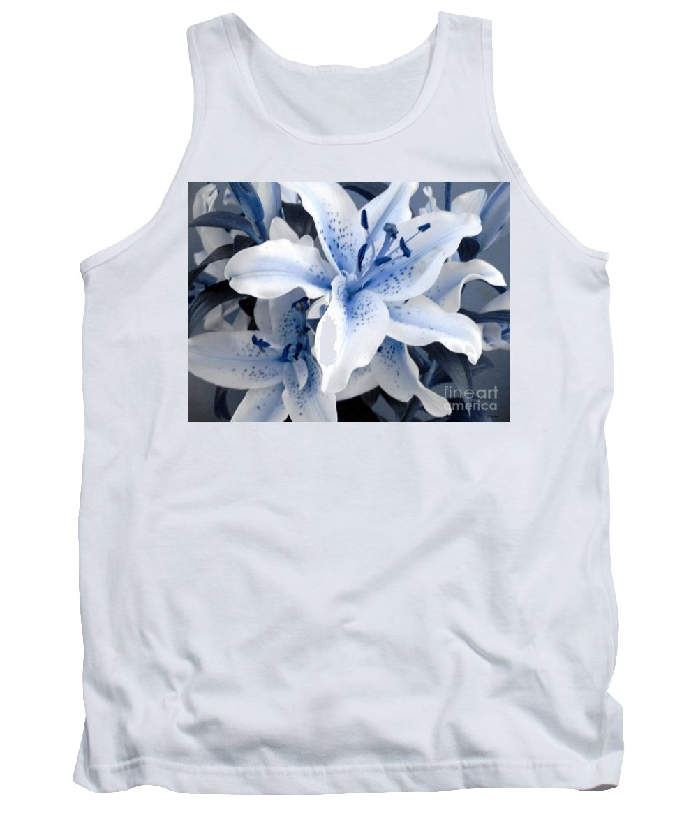 Blue Tank Top featuring the photograph Freeze by Shelley Jones