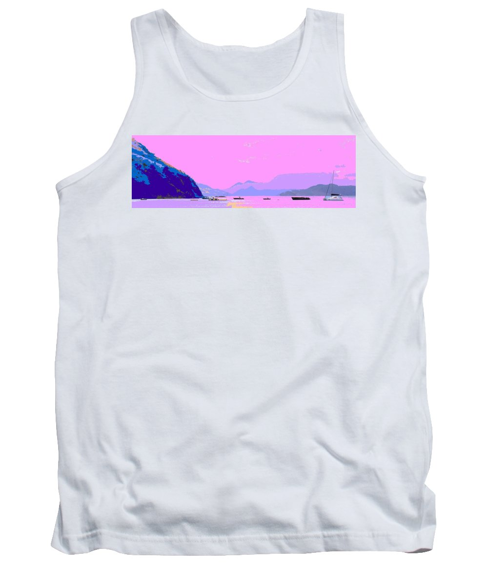 Frigate Tank Top featuring the photograph Frigate Bay Morning by Ian MacDonald