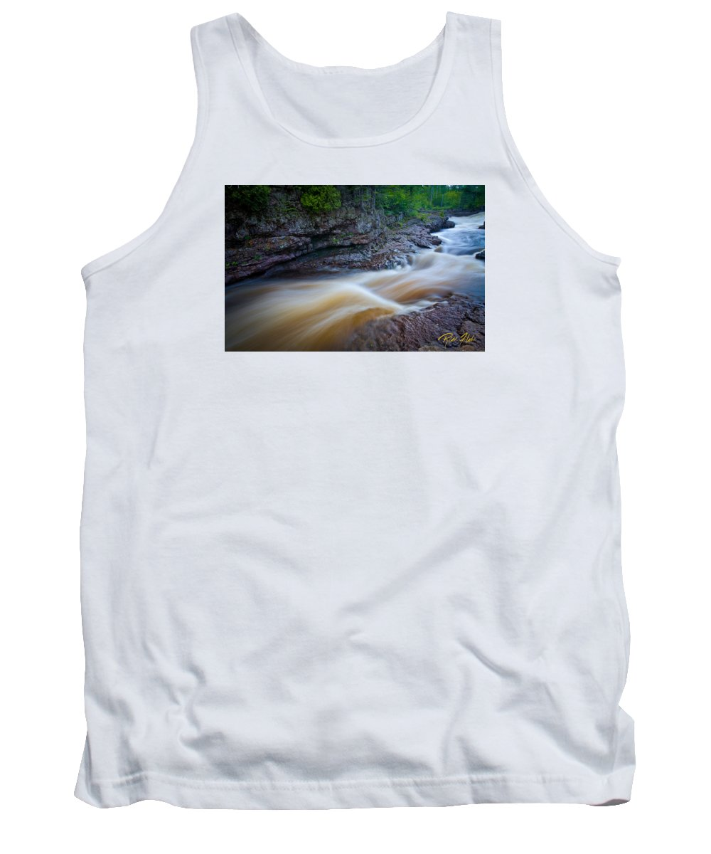 Flowing Tank Top featuring the photograph From The Top Of Temperence River Gorge by Rikk Flohr