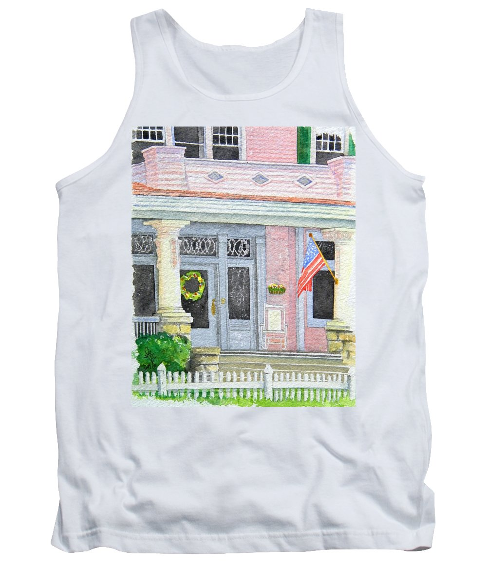 Front Porch Tank Top featuring the painting Front Porch by Gale Cochran-Smith