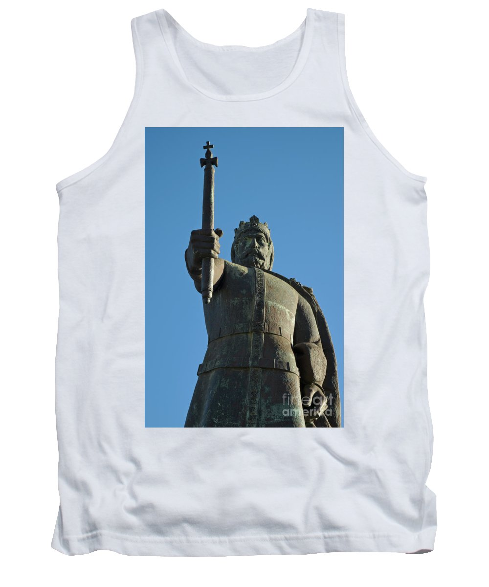 Photograph Tank Top featuring the photograph Front View Of King Afonso The Third Statue. Portugal by Angelo DeVal