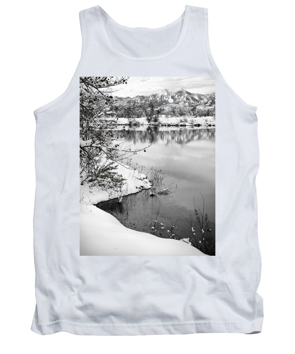 Colorado Tank Top featuring the photograph Frosty Flatirons by Marilyn Hunt