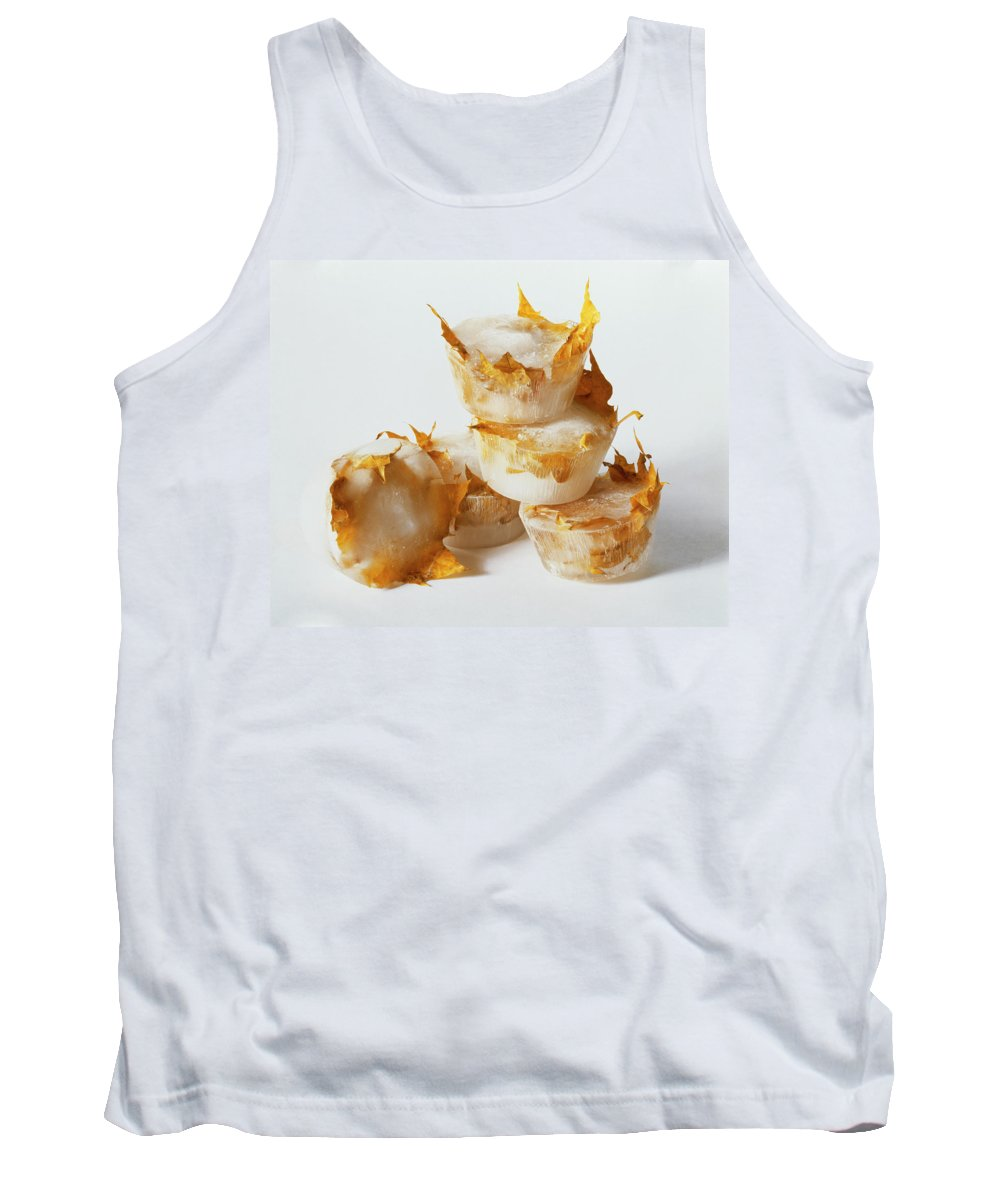 Composition Tank Top featuring the photograph Frozen Leaves by Stefania Levi