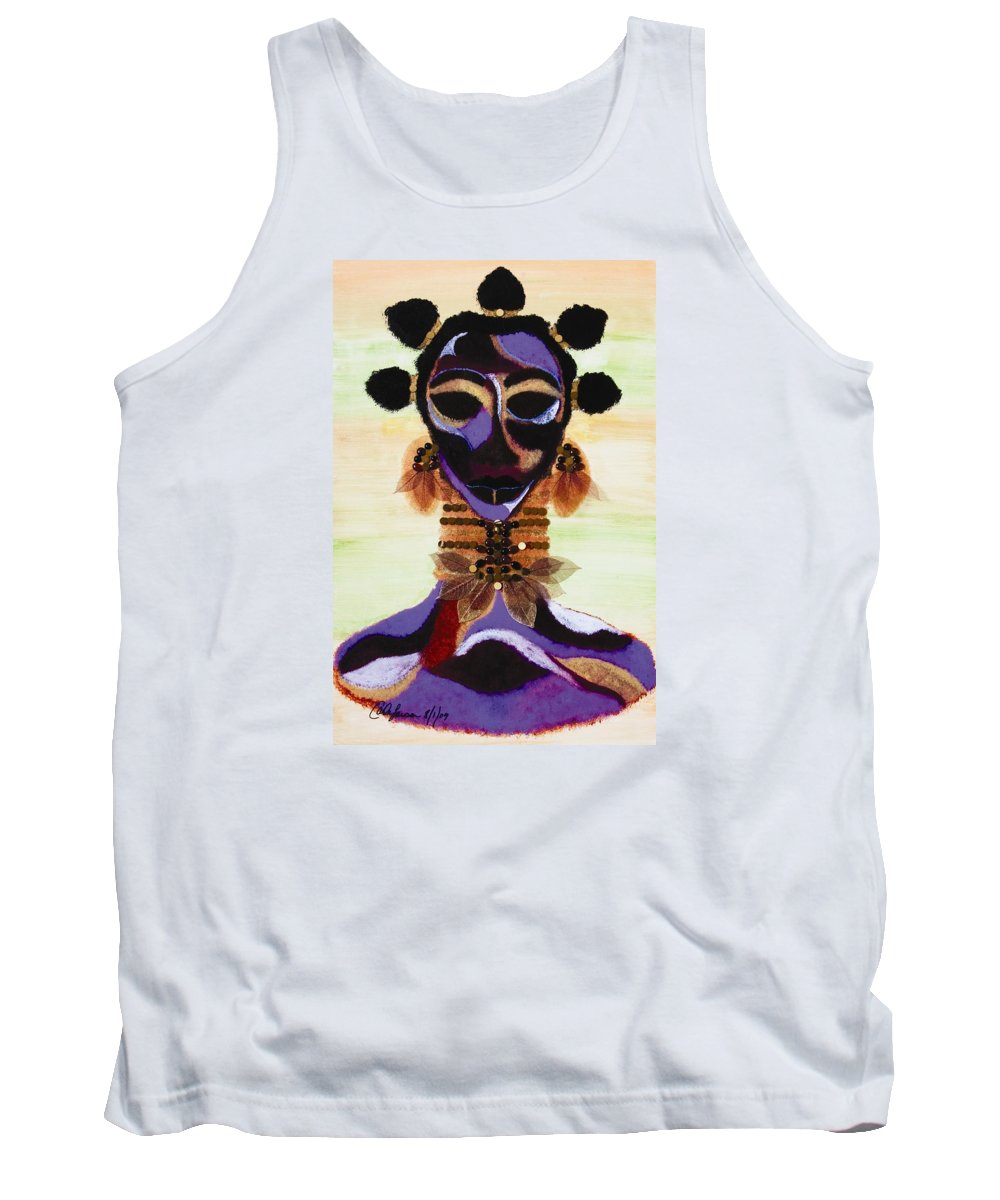 Fulani Tank Top featuring the painting Fulani by Carla J Lawson