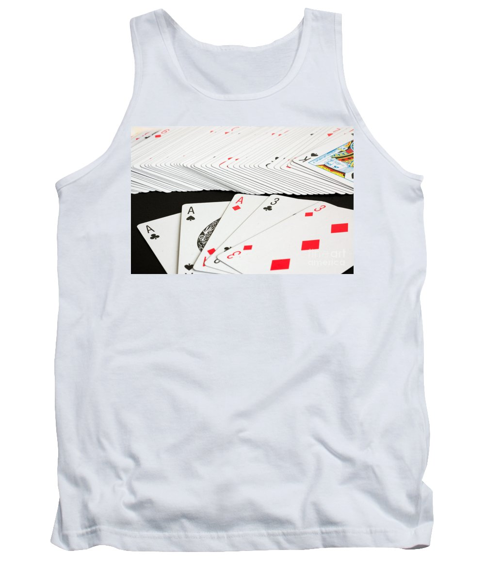 Ace Tank Top featuring the photograph Full House by Joe Ng