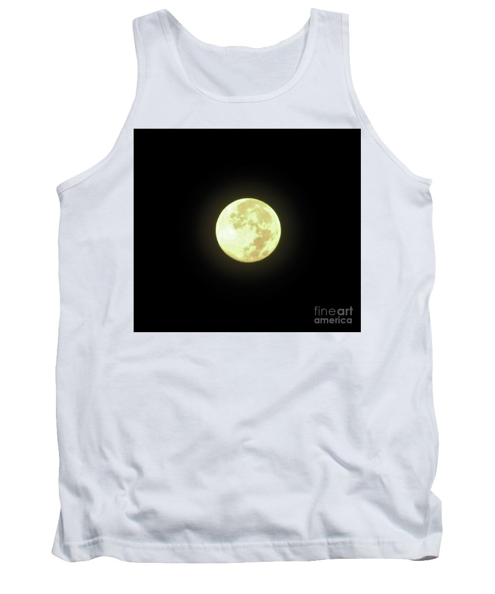 Moon Tank Top featuring the photograph Full Moon August 2014 by D Hackett
