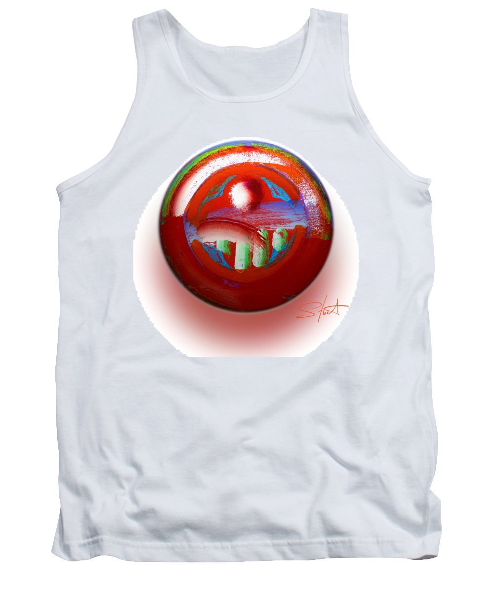 Mother Earth Tank Top featuring the painting Gaeia by Charles Stuart