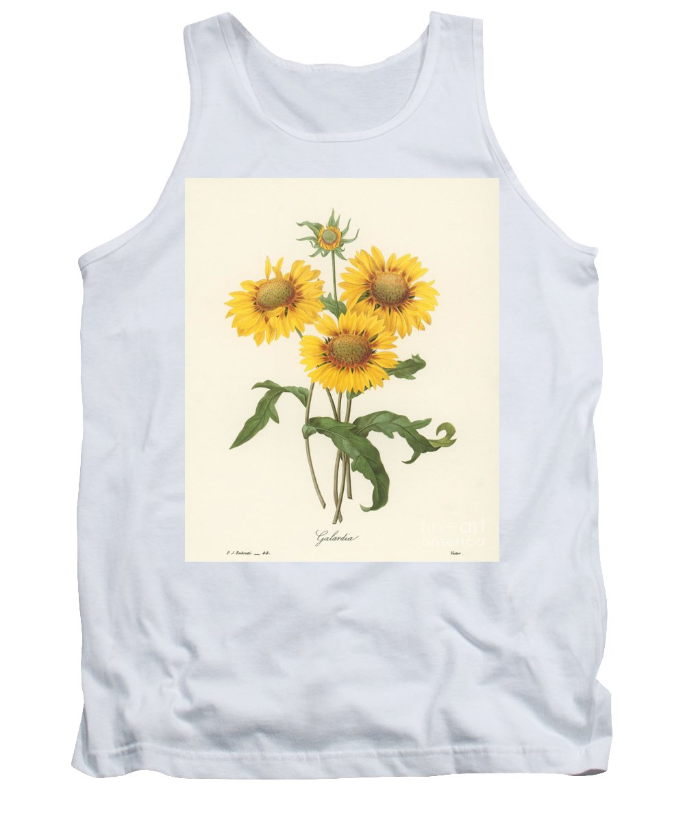 1833 Tank Top featuring the photograph Galardia by Granger