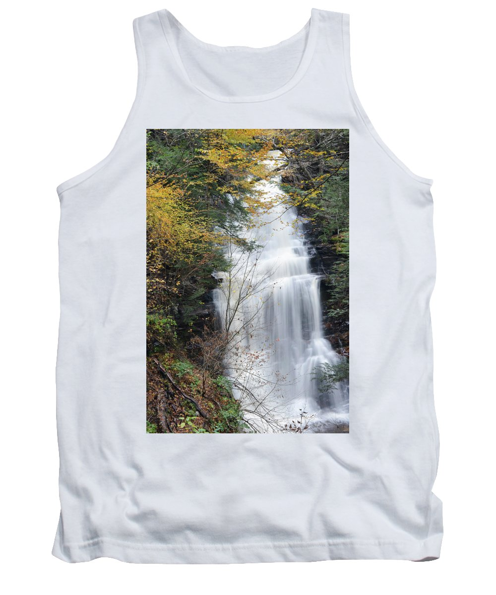 Phil Levee Tank Top featuring the photograph Ganoga Falls by Philip LeVee
