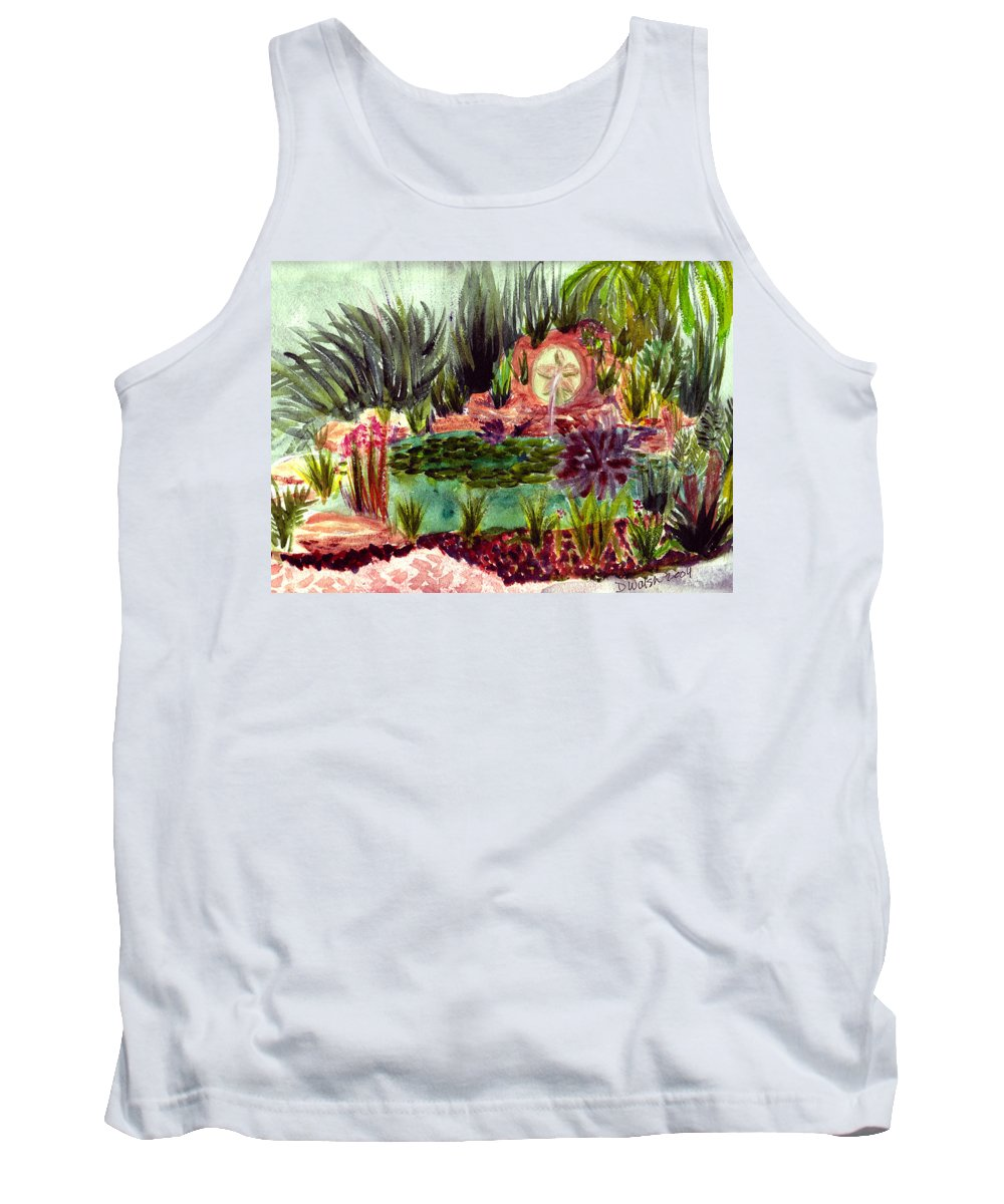 Garden Tank Top featuring the painting Garden Path by Donna Walsh
