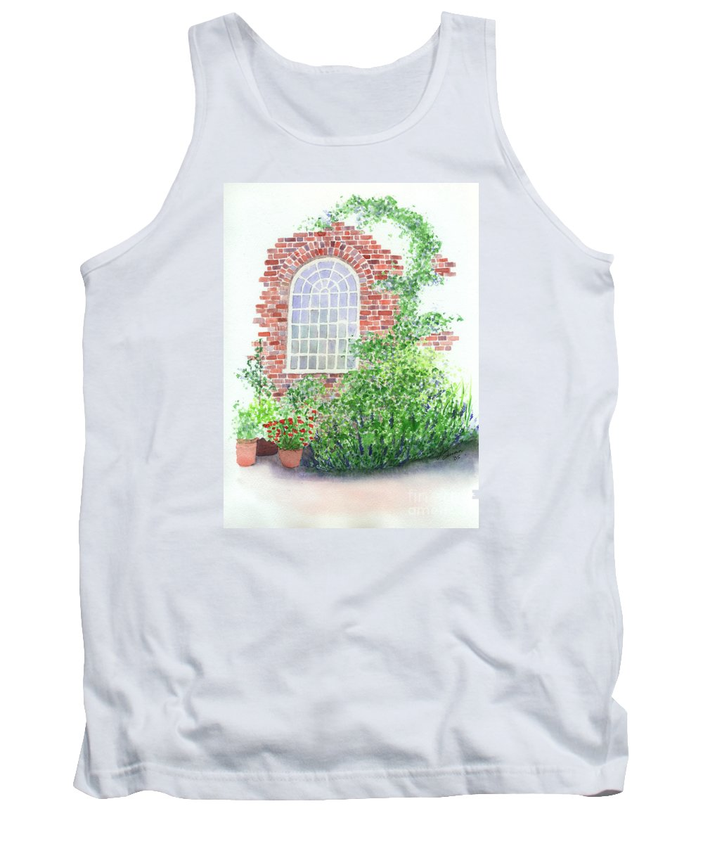 Window Tank Top featuring the painting Garden Wall by Lynn Quinn