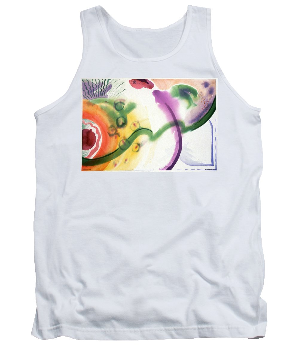 Abstract Tank Top featuring the painting Geomantic Blossom Ripening by Eileen Hale