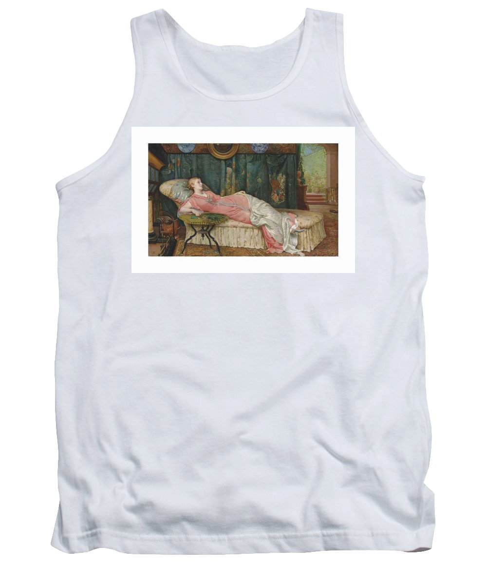 Girl Tank Top featuring the painting George Hamilton Barrable Fl 1873 1887 Dolce Far Niente by George Hamilton Barrable