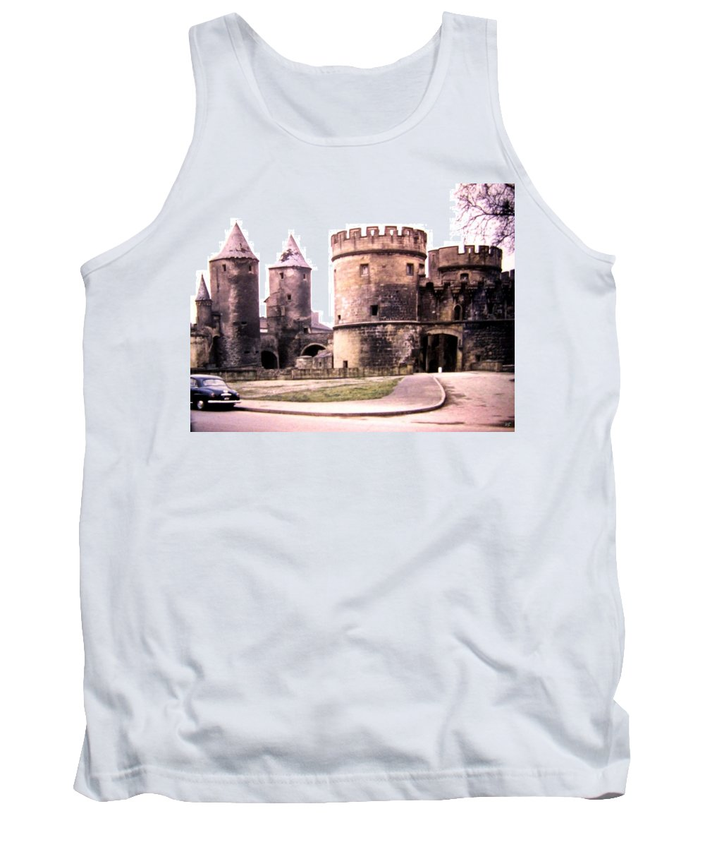 1955 Tank Top featuring the photograph German Gate In Metz 1955 by Will Borden