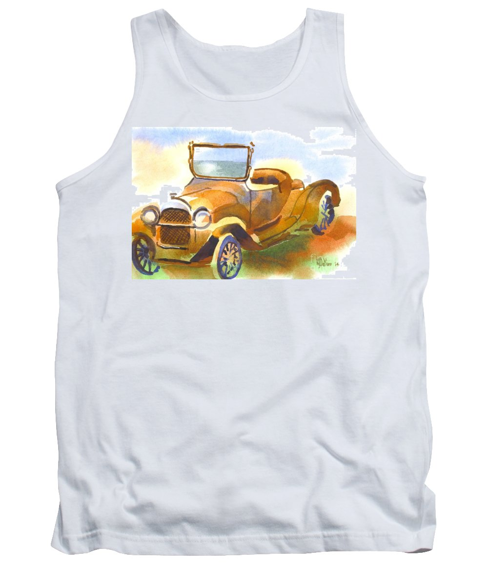 Getting A Little Rusty Tank Top featuring the painting Getting A Little Rusty by Kip DeVore