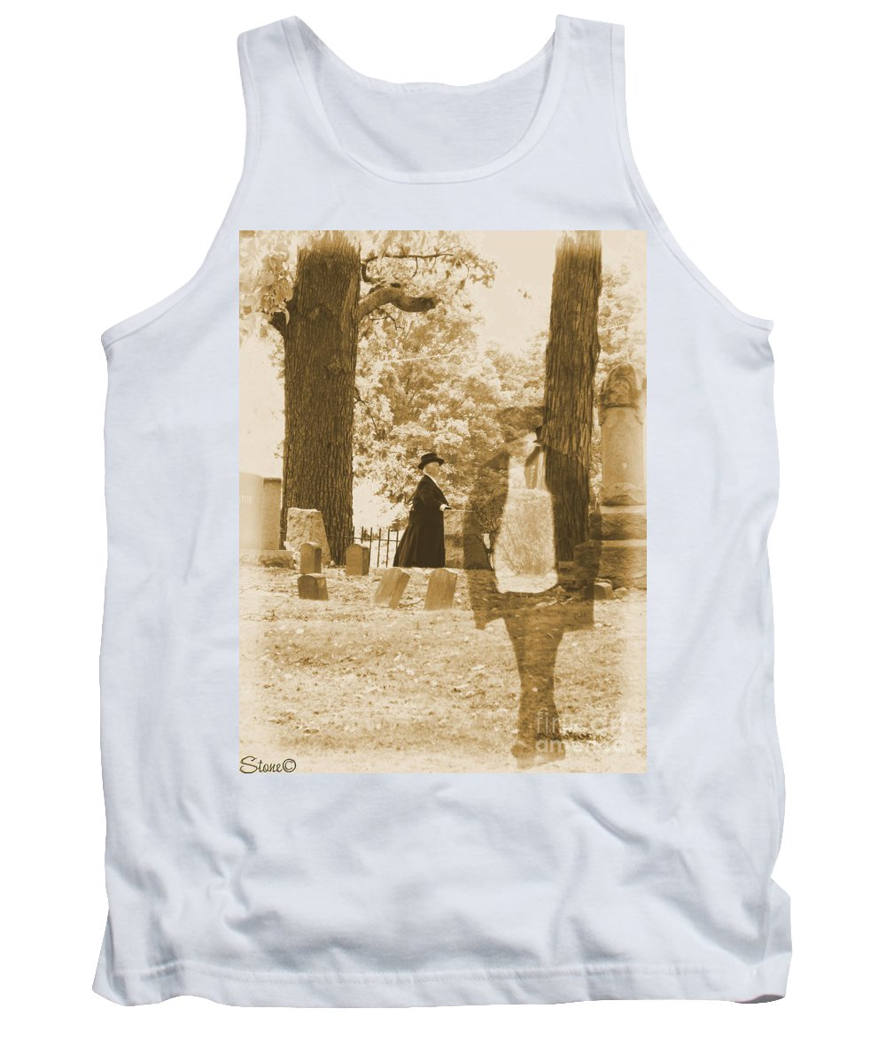 Art Tank Top featuring the photograph Ghost In The Graveyard by September Stone