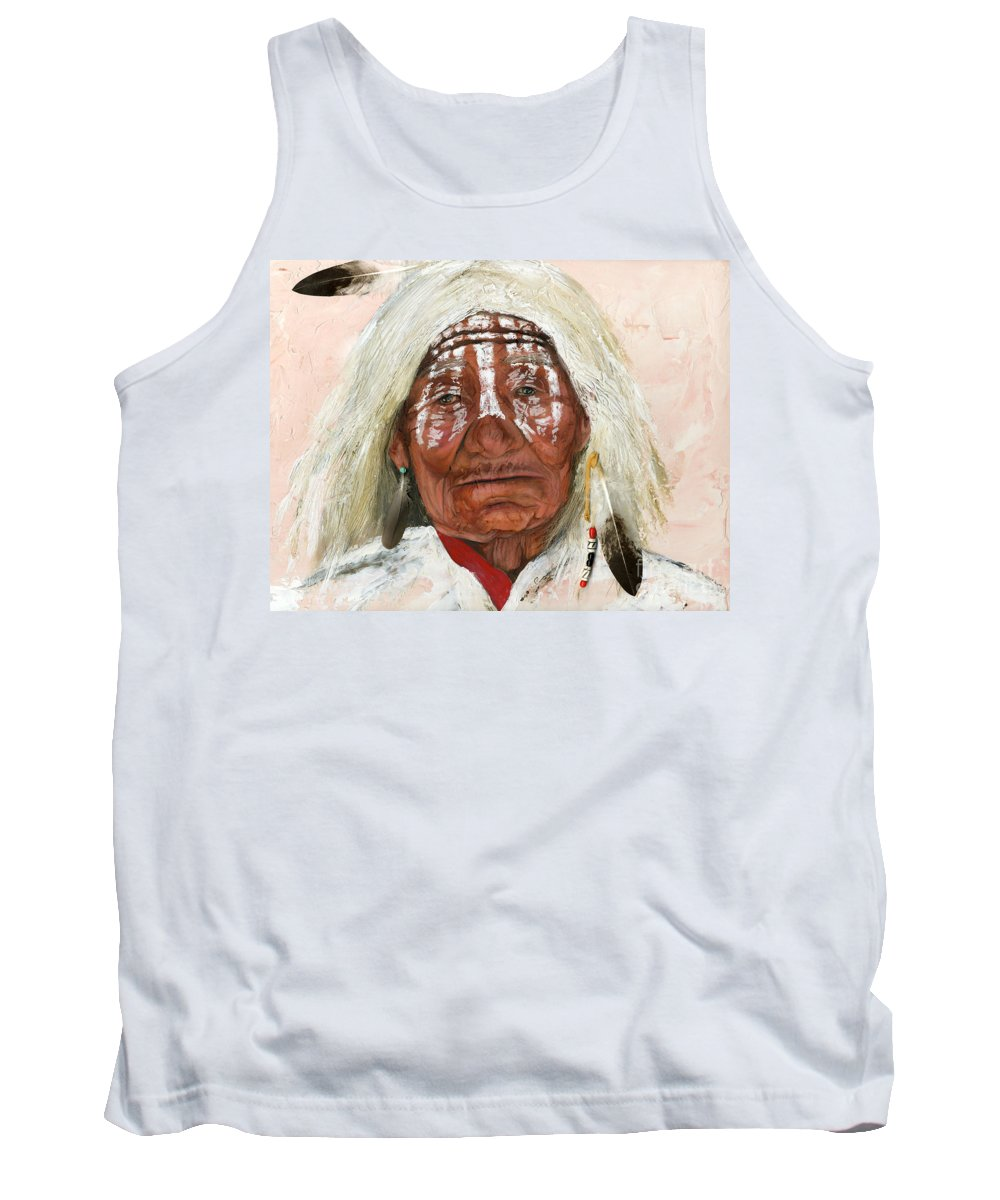 Southwest Art Tank Top featuring the painting Ghost Shaman by J W Baker