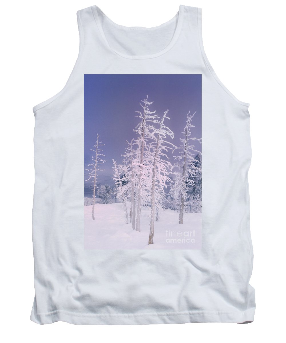 North America Tank Top featuring the photograph Ghost Trees Yellowstone National Park by Dave Welling