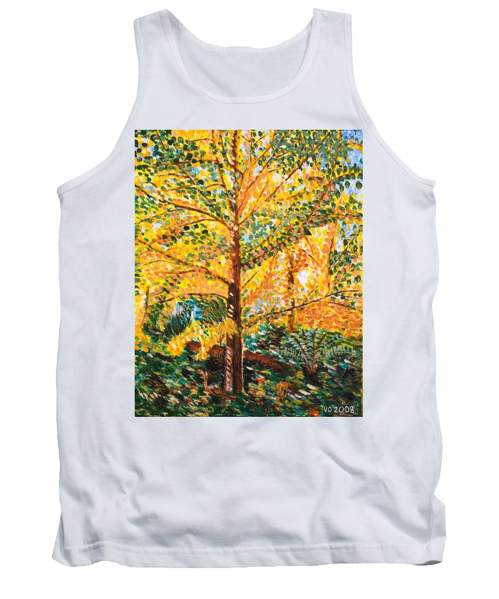 Tree Tank Top featuring the painting Gingko Tree by Valerie Ornstein