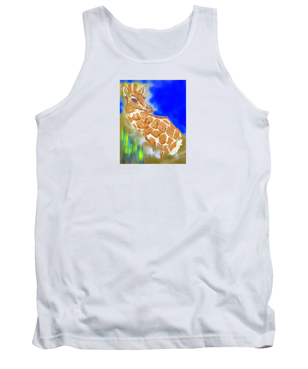 Impressionist Painting Tank Top featuring the painting Giraffe by J R Seymour