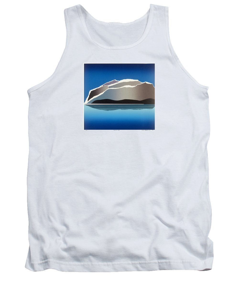 Landscape Tank Top featuring the mixed media Glaciers by Jarle Rosseland