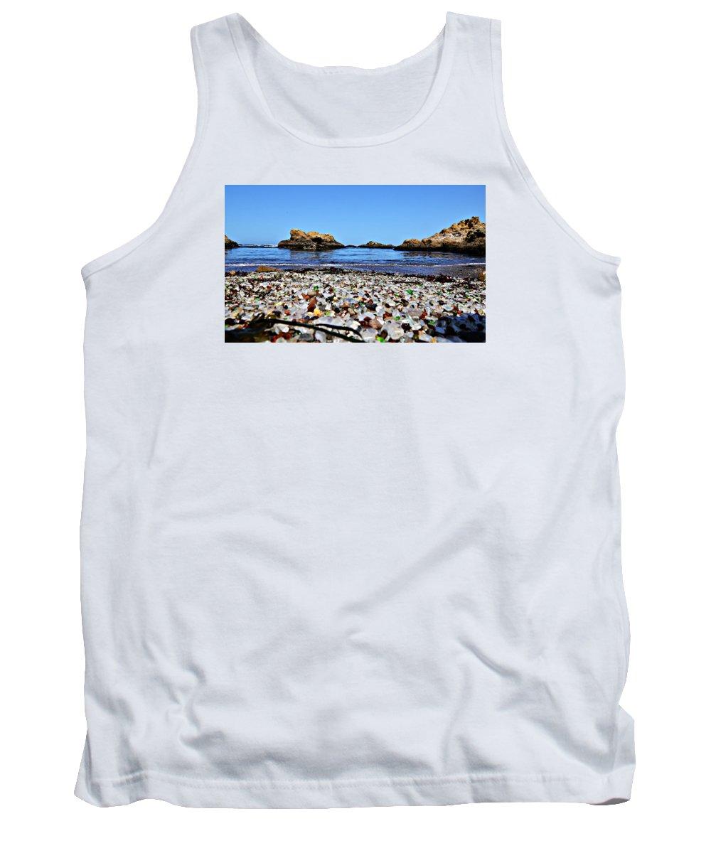 Glass Beach Tank Top featuring the photograph Glass Beach by Sean Dudley