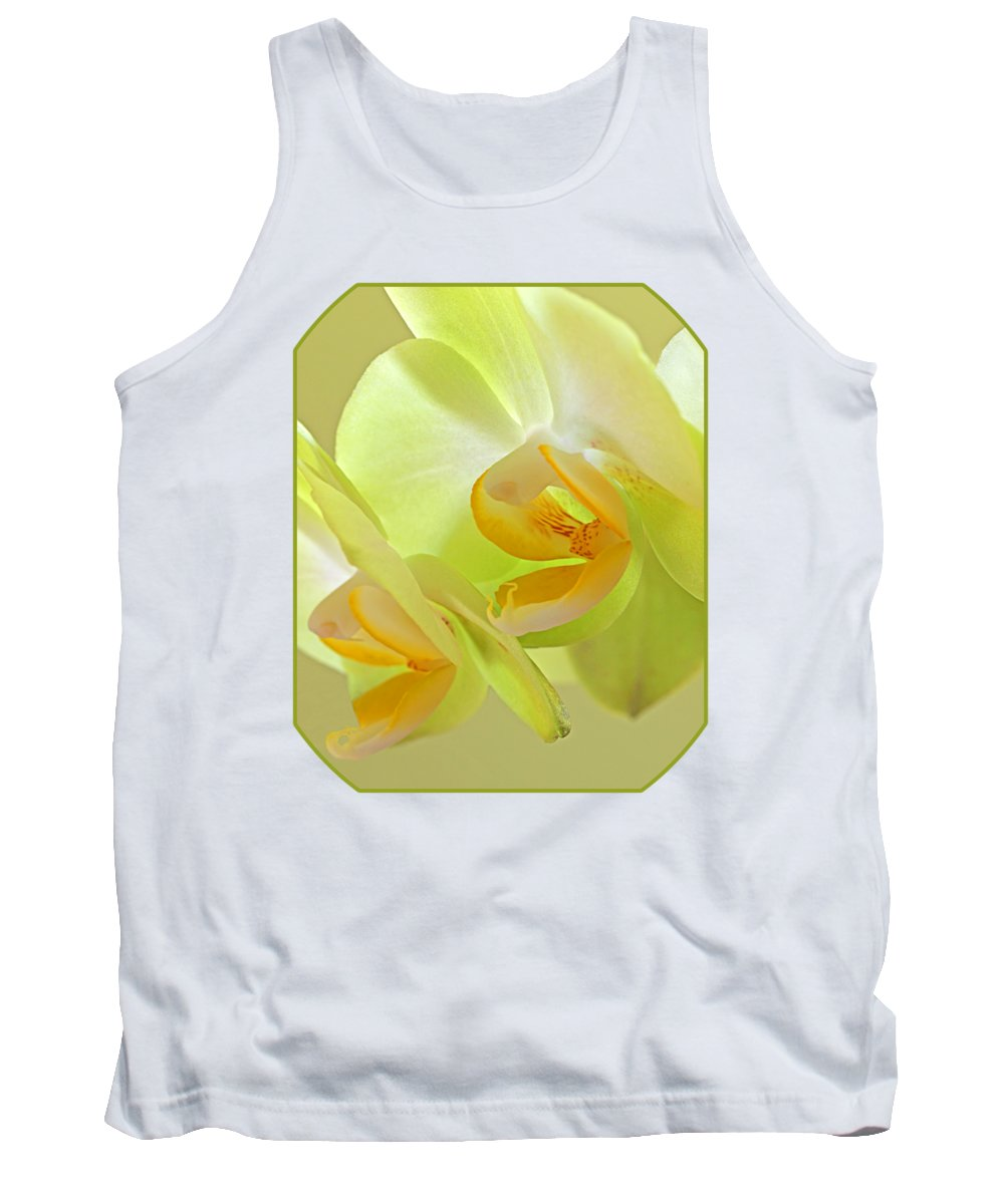 Yellow Orchid Tank Top featuring the photograph Glowing Orchid - Lemon And Lime by Gill Billington