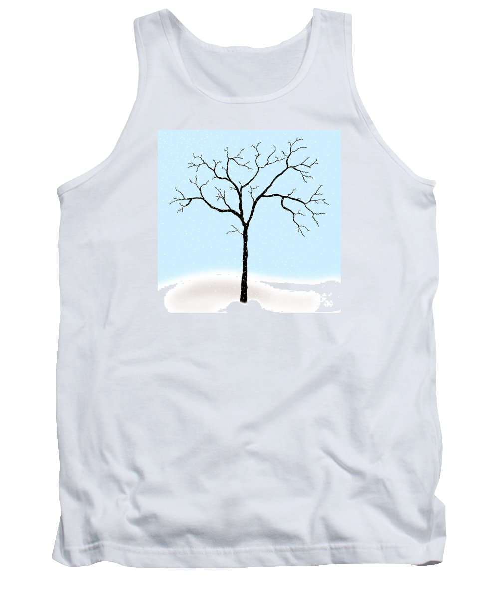 Gnarled Tank Top featuring the digital art Gnarled In Winter by Alycia Christine