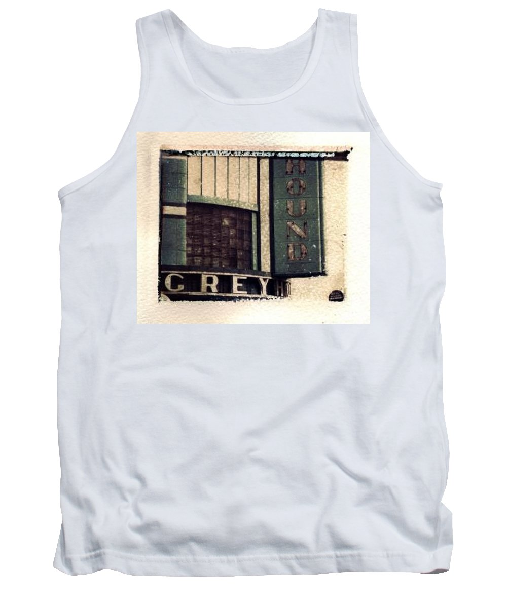 Polaroid Transfer Tank Top featuring the photograph Go Greyhound And Leave The Driving To Us by Jane Linders