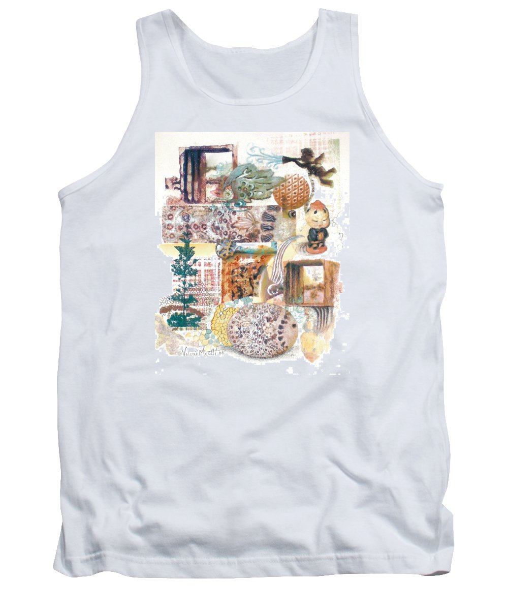 Abstract Tank Top featuring the painting Go With The Flow by Valerie Meotti
