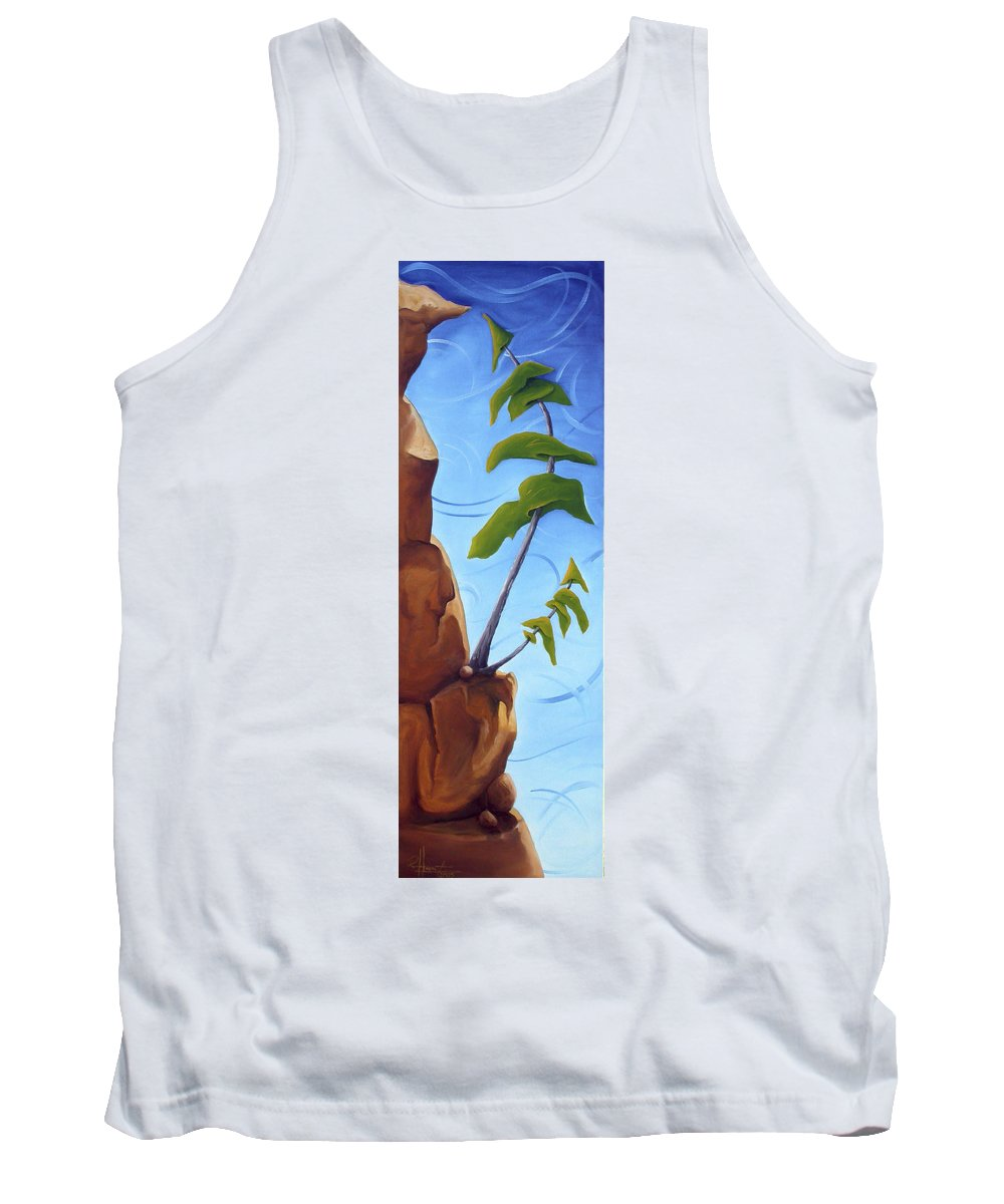 Landscape Tank Top featuring the painting Goals by Richard Hoedl