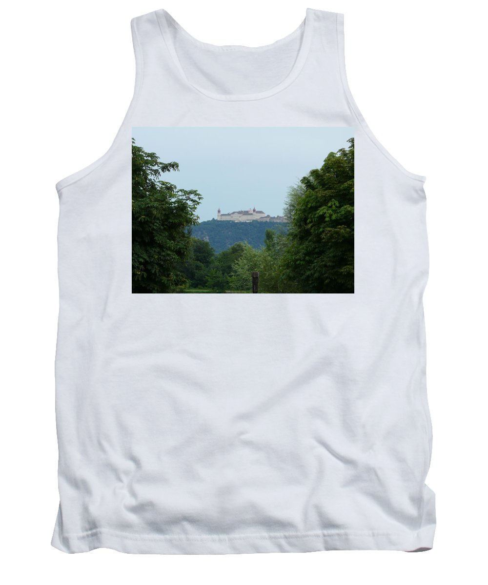 Landscape Tank Top featuring the photograph Goettweig Abbey by Valerie Ornstein