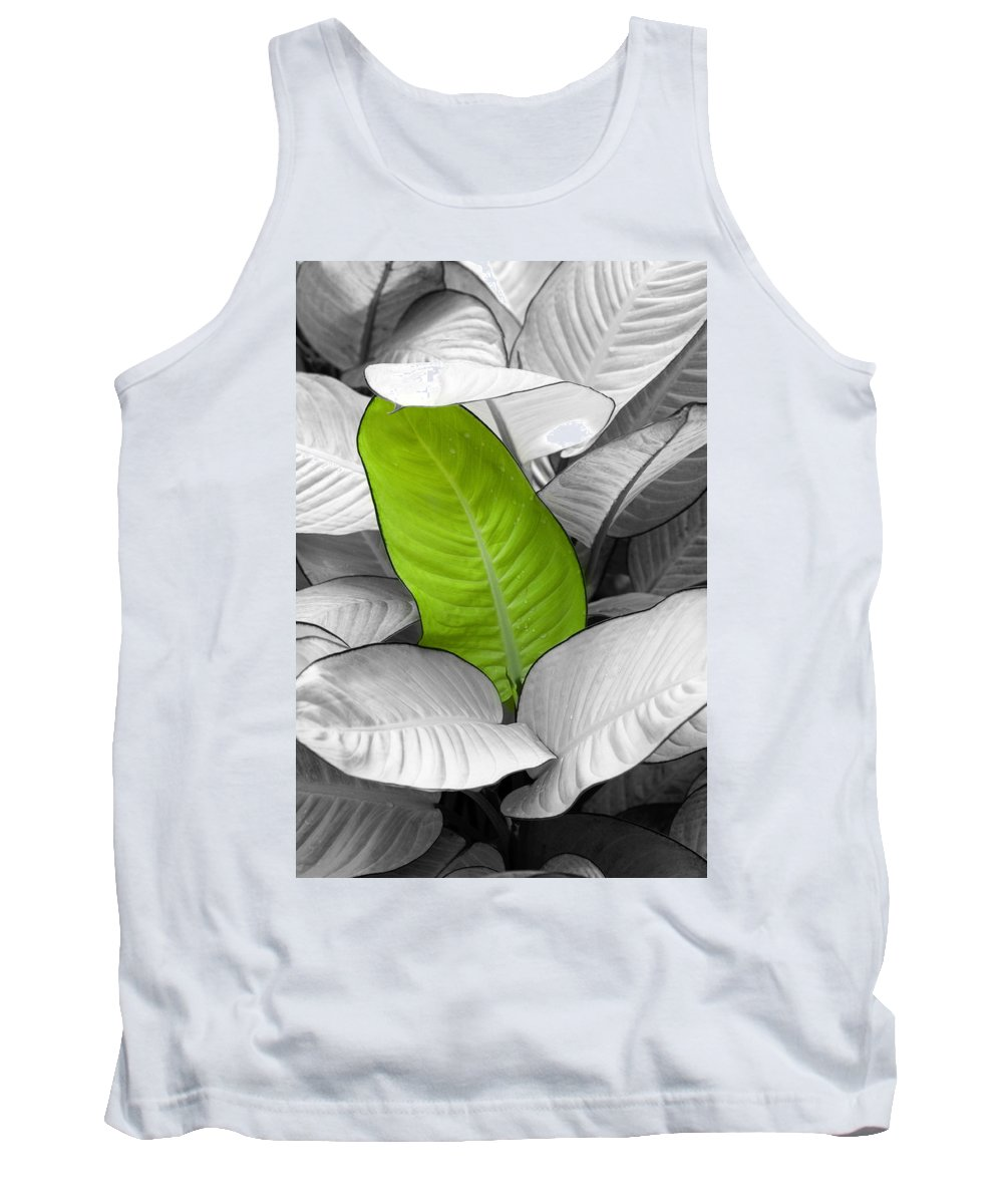 Leaf Tank Top featuring the photograph Going Green Lighter by Marilyn Hunt