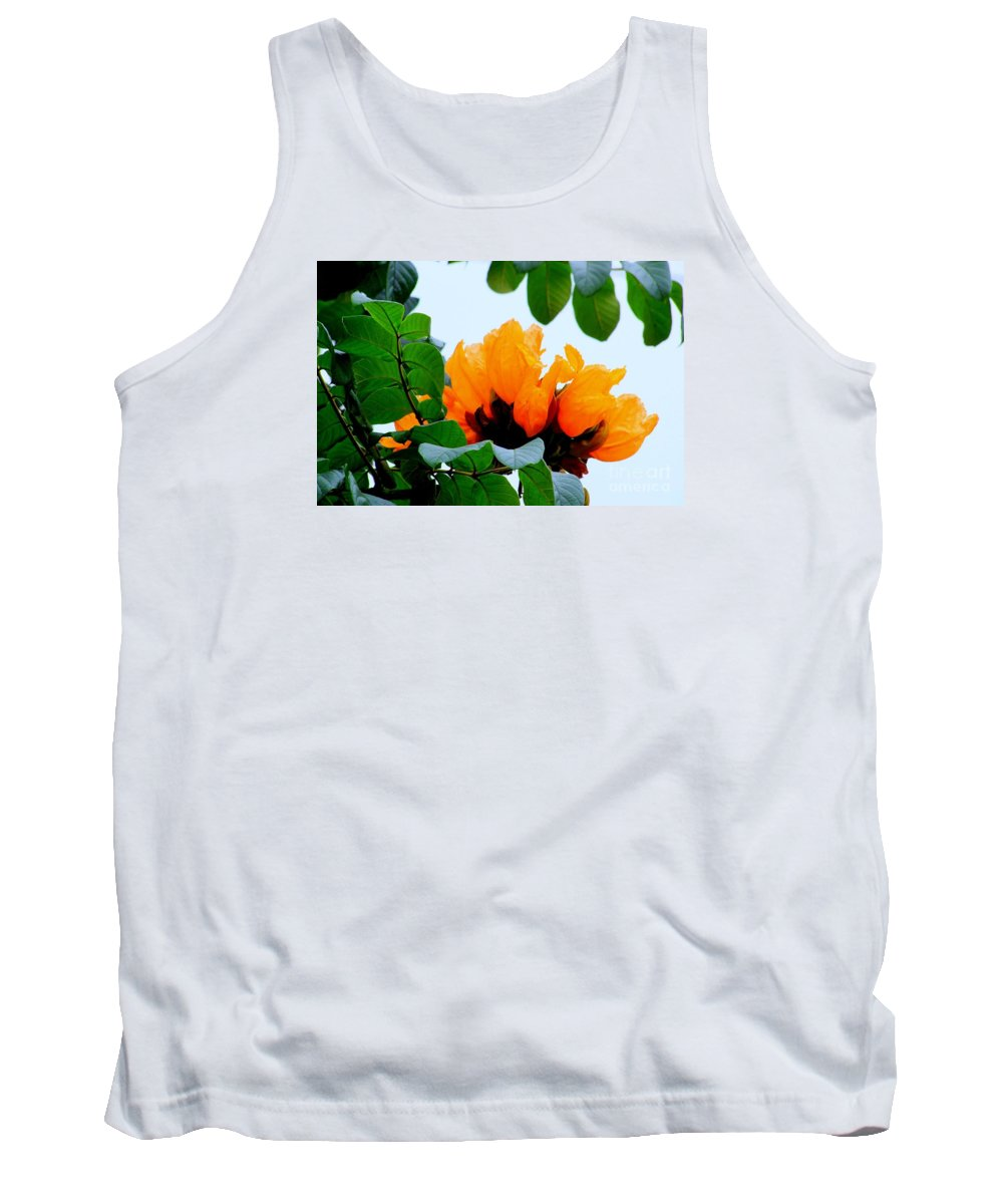 Africa Tank Top featuring the photograph Gold African Tulips by Mary Deal