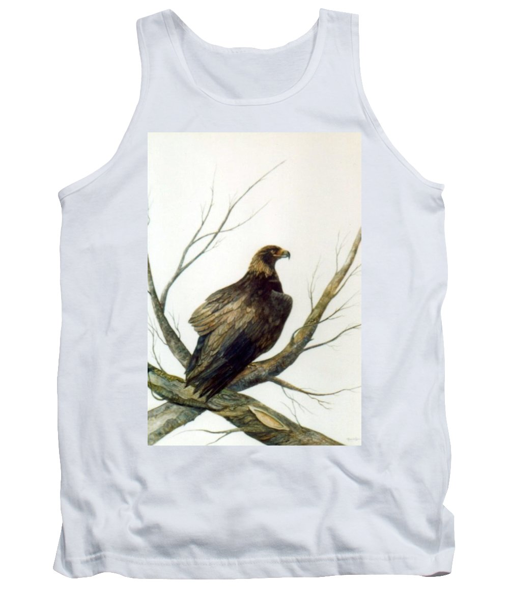 Eagle Tank Top featuring the painting Golden Eagle by Ben Kiger
