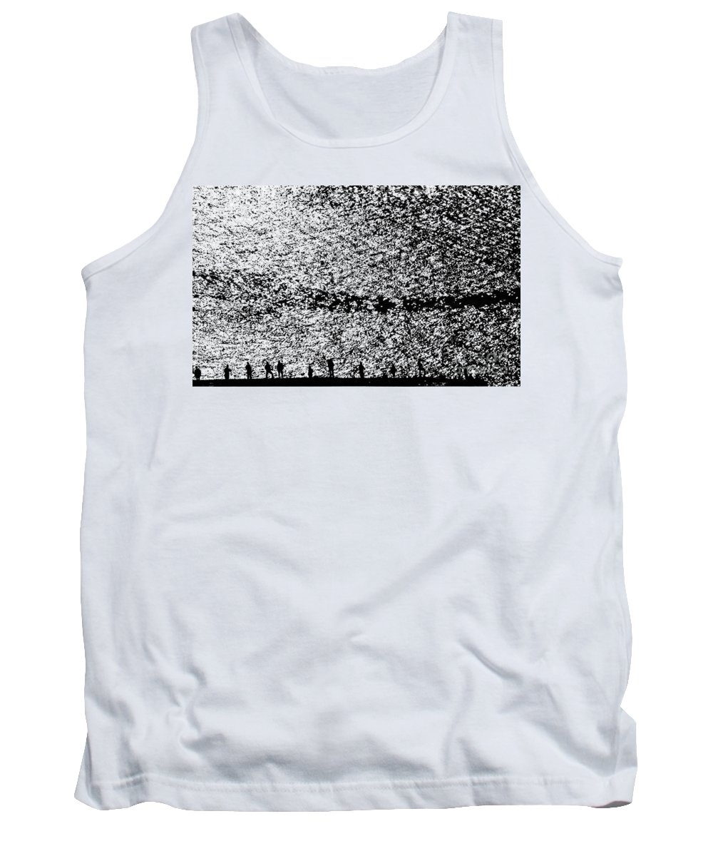 California Scenes Tank Top featuring the photograph Golden Gate Fisherman by Norman Andrus