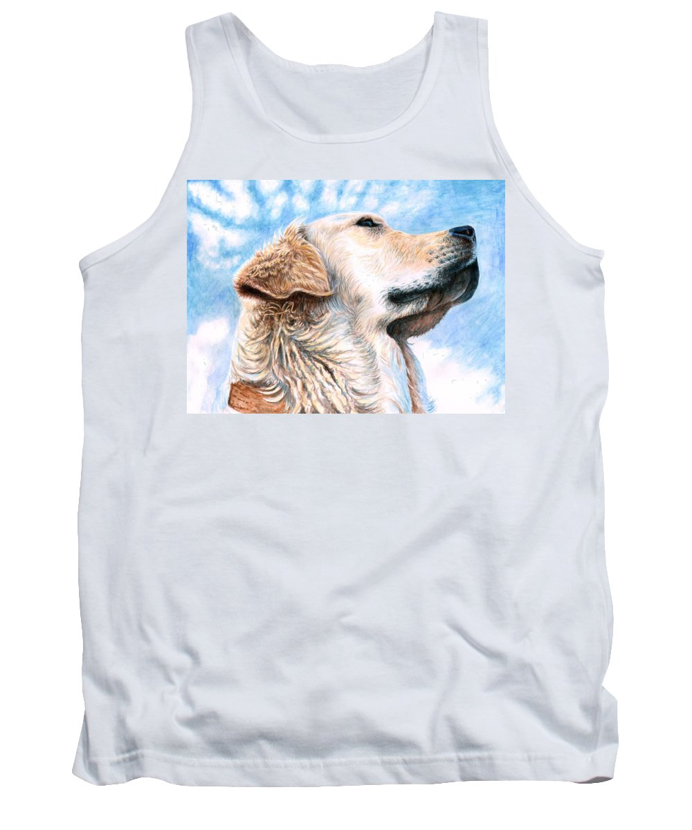 Dog Tank Top featuring the painting Golden Retriever by Nicole Zeug