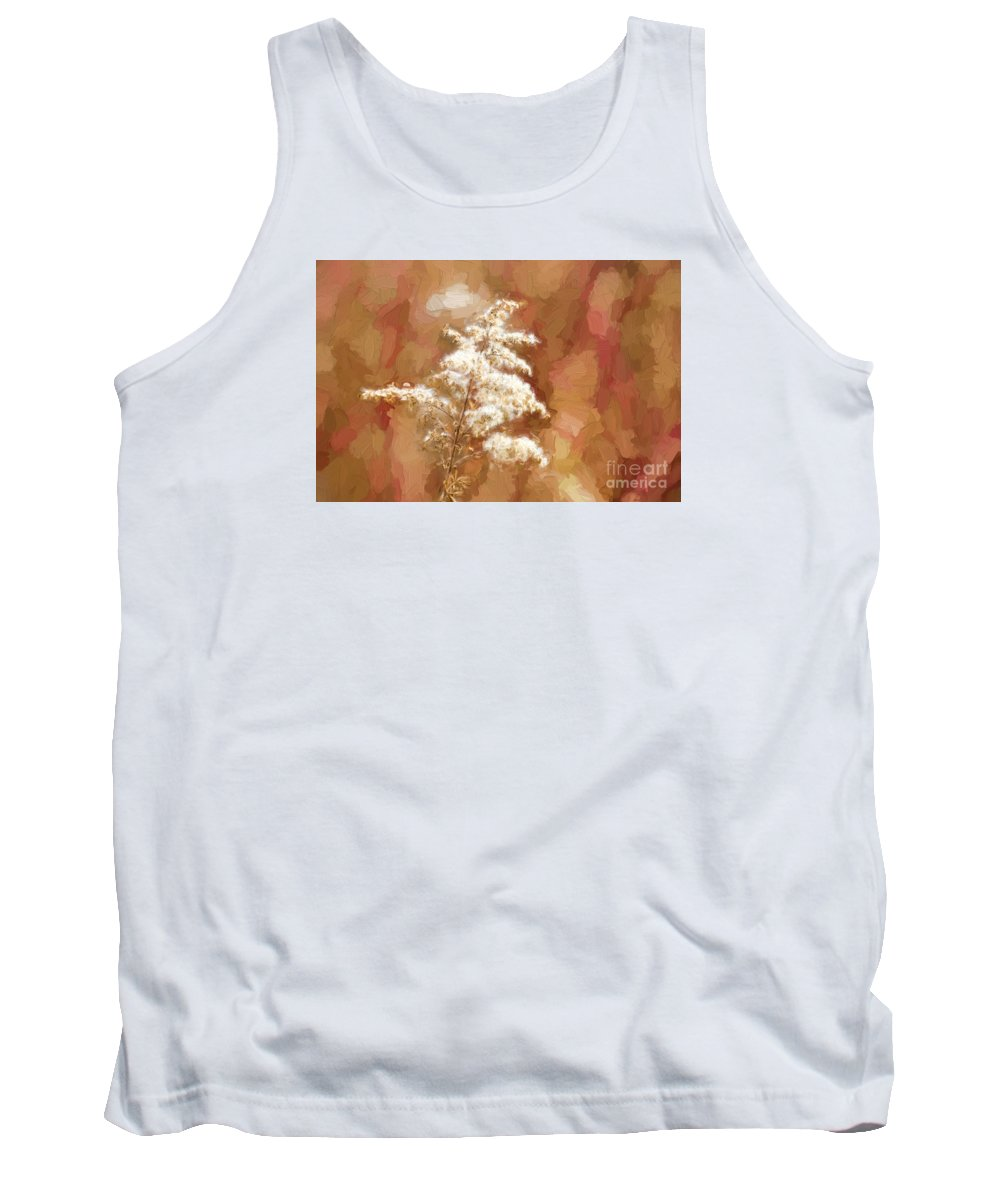 Goldenrod Tank Top featuring the photograph Goldenrod Plant In Fall by Les Palenik