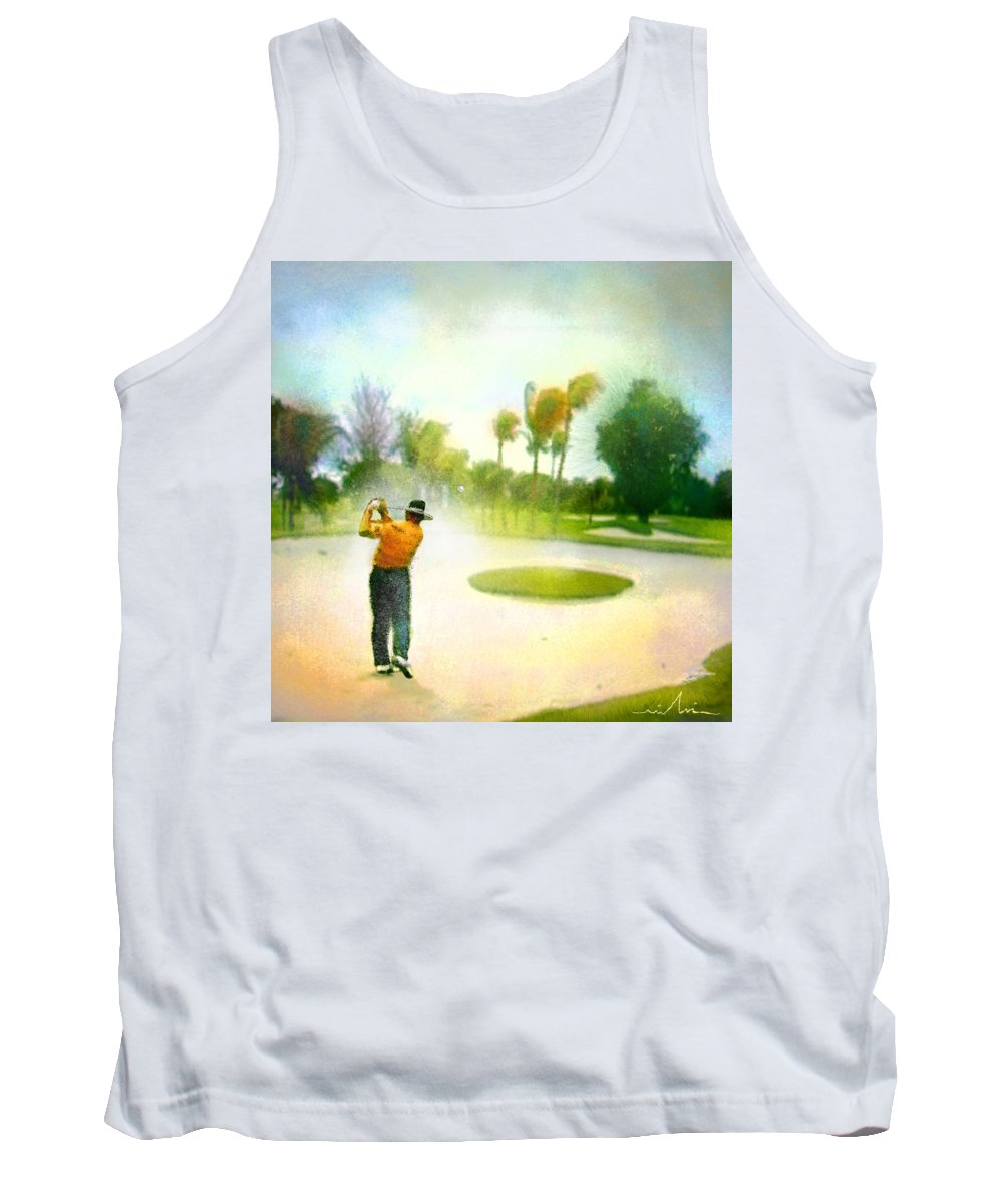 Golf Tank Top featuring the painting Golf At The Blue Monster In Doral Florida 02 by Miki De Goodaboom