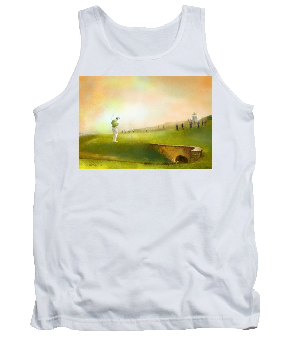 Golf Tank Top featuring the painting Golf In Scotland Saint Andrews 02 by Miki De Goodaboom