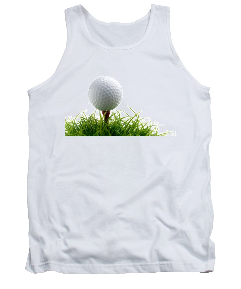 Activity Tank Top featuring the photograph Golfball by Kati Finell
