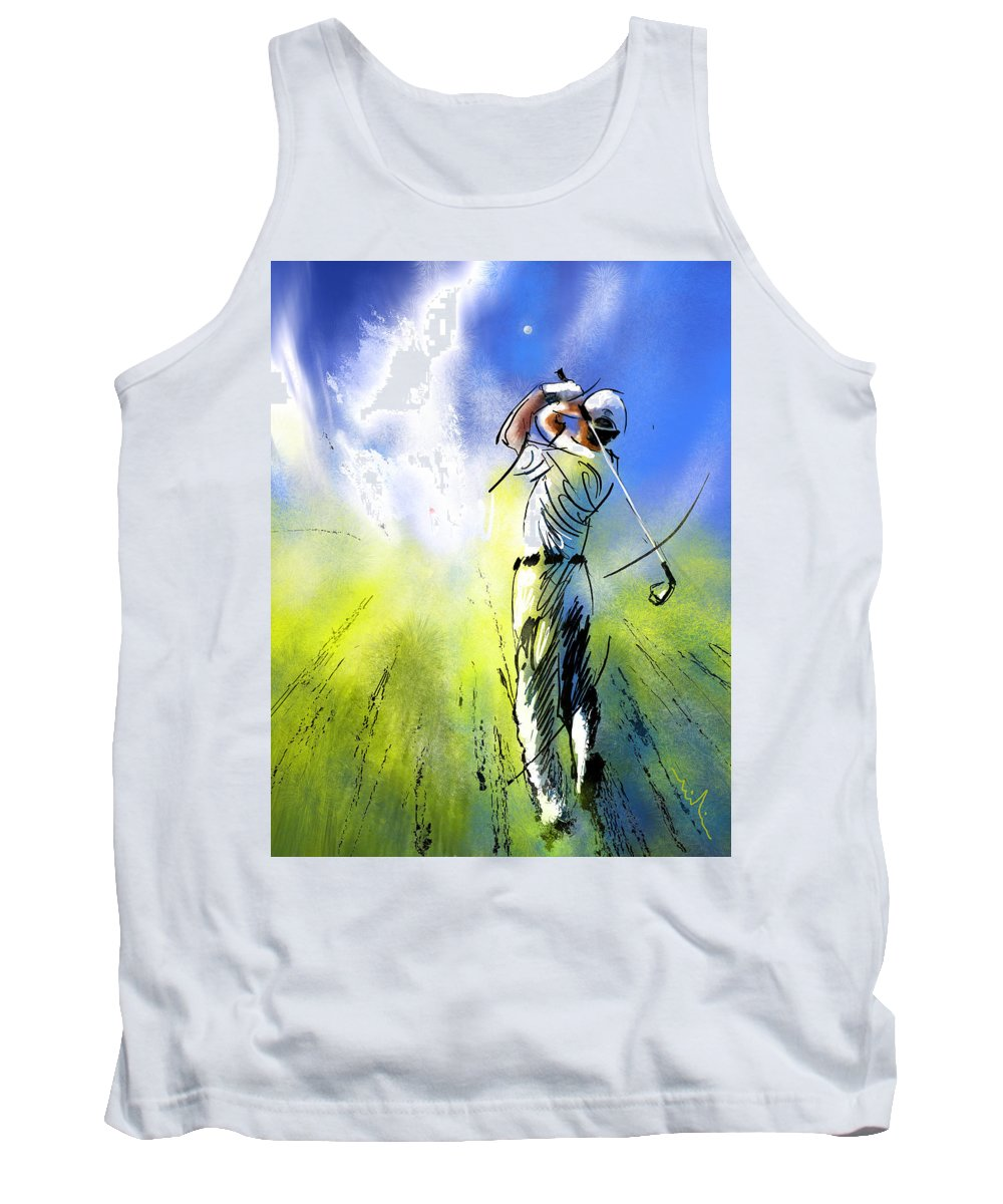 Sports Tank Top featuring the painting Golfscape 01 by Miki De Goodaboom