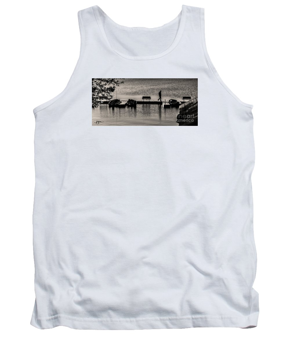 Lake Tank Top featuring the photograph Gone Fishin' by Joseph Yvon Cote