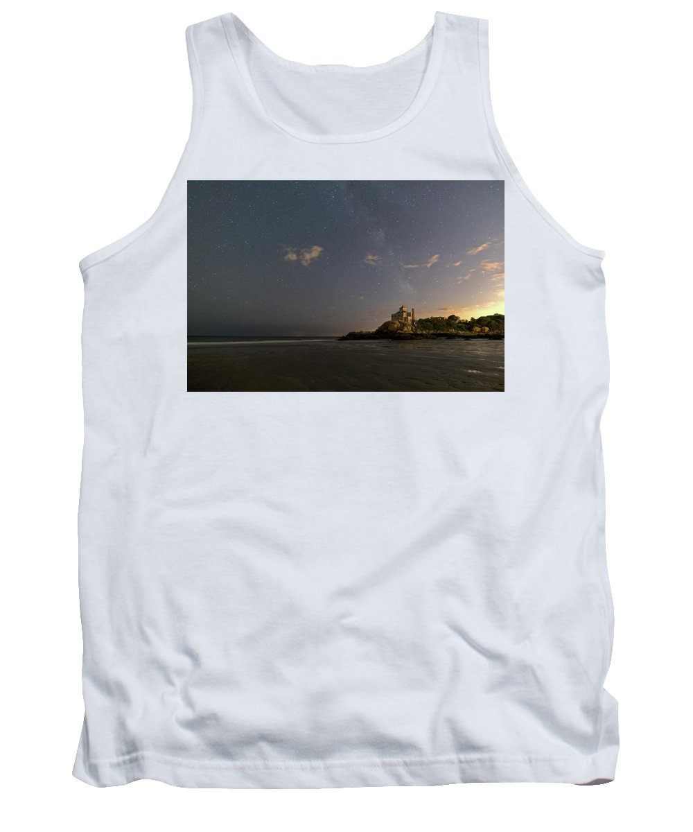 Good Harbor Beach Tank Top featuring the photograph Good Harbor Beach Under The Stars And Milky Way by Toby McGuire