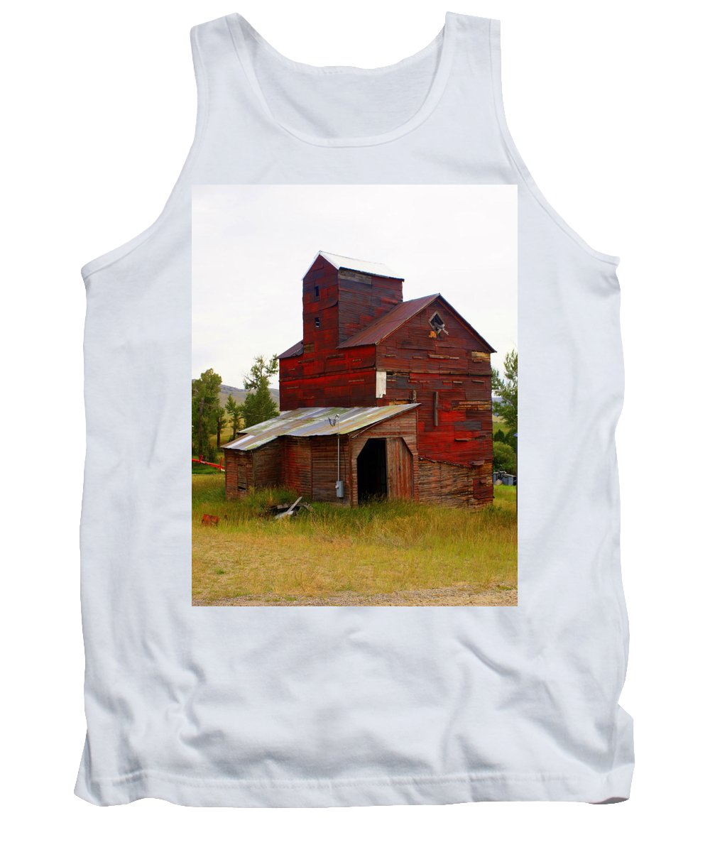 Grane Elevator Tank Top featuring the photograph Grain Elevator by Marty Koch