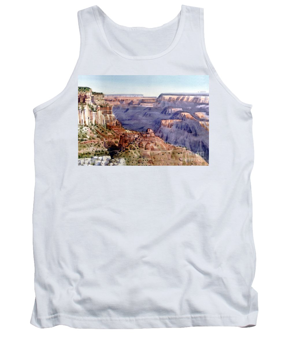 Grand Canyon Tank Top featuring the painting Grand Canyon Morning by Donald Maier