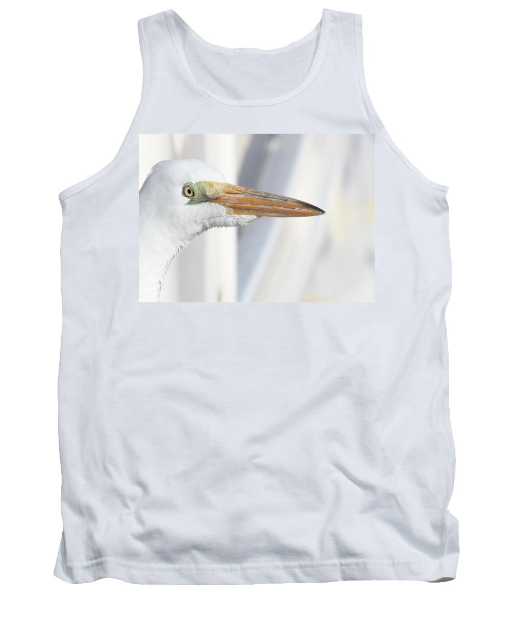 Great Egret Tank Top featuring the photograph Great Egret Profile 2 by Carol Groenen
