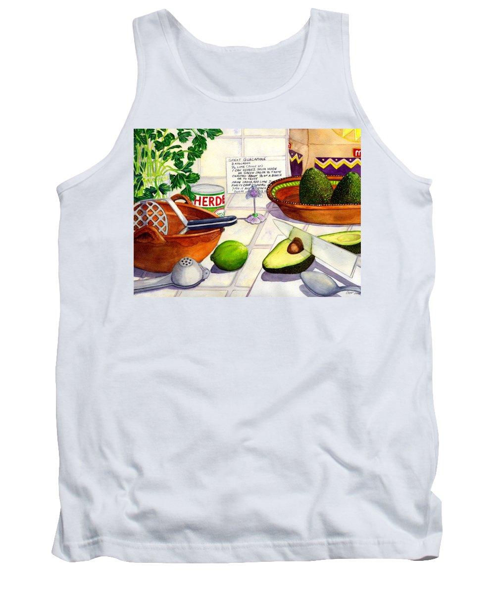 Guacamole Tank Top featuring the painting Great Guac. by Catherine G McElroy
